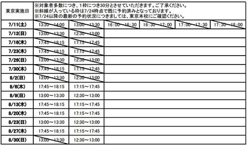 夏の松本の個別相談(無料)